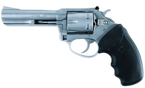 Charter Arms Pathfinder Target Revolver 72340, 22 Winchester Magnum, 4 in BBL, Sngl / Dbl, Rubber Grips, Fixed Ramp Sights, Stainless Finish, 6 Rds