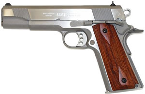 Colt XSE Government Pistol O1070XSE, 45 ACP, 5 in BBL, Sngl Actn Only, Rosewood Grips, 3-Dot Sights, SS Finish, 8 + 1 Rds