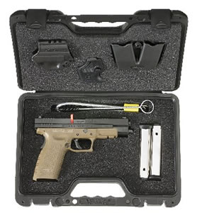 Springfield Model XD Package XD9162HCSP06, 45 ACP, 5 in BBL, Dbl Actn Only, Polymer Grips, Blk Slide/Dk Earth Frame, 10 + 1, 13 + 1