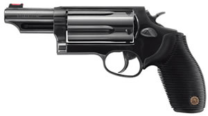 Taurus Model 45/410 Tracker Revolver 2441031MAG, 410 GA / 45 Long Colt, 3 in BBL, Sngl / Dbl, Ribber Grip Overlay, Fiber Opt Sights, Blue Finish, 5 Rds