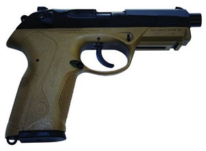 Beretta Px4 Storm Special Duty Pistol JXF5F45, 45 ACP, 4 in BBL, Sngl / Dbl, Polymer Grips, Superluminova Sights, Mt Blk Finish, 9 + 1 Rds