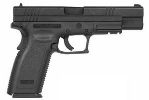 Springfield Model XD Package XD9655HCSP06 Compact, 45 ACP, 5 in BBL, Dbl Actn Only, Polymer Grips, Blk Finish, 10 + 1, 13 + 1