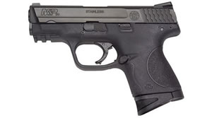 Smith & Wesson Model M&P 40C Pistol 109303, 40 S&W, 3 1/2 in BBL, Dbl Actn Only, Polymer Grips, 3-Dot Sights, Blk Finish, 10 + 1 Rds