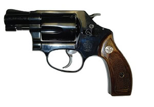 Smith & Wesson Model 36 Classic Revolver 150184, 38 Special, 1 7/8 in BBL, Sngl / Dbl, Altamont Wood Grips, Blue Finish, 5 Rds