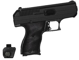 Hi Point Compact Pistol 9NYLOC, 9 MM, 3.5 in BBL, Dbl Actn Only, Polymer Grips, 3-Dot Adj Sights, Blk Finish, 8 + 1 Rds