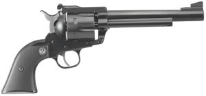 Ruger Blackhawk BN36XL Revolver 10318, 357 Remington Mag, 6 1/2 in BBL, Sngl Actn Only, Rubber Grips, Adj Sights, Blue Finish, 6 Rds