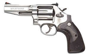 Smith & Wesson Model 686SSR Stock Service Revolver Pro Revolver 178012, 357 Remington Mag, 4 in BBL, Sngl / Dbl, Wood Grips,Satin Stainless Finish, 6 Rds