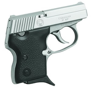 NAA Guardian Pistol 32GUARdS, 32 ACP, 2 185 in BBL, Dbl Actn Only, Blk Rubber Grips, Fixed Sights, Stainless Finish, 6 + 1 Rds