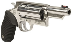 Taurus Model 4410 Tracker Revolver 2441039MAGPSS, 410 GA / 45 Long Colt, 3 in BBL, Sngl / Dbl, Ribber Grip Overlay, Fiber Opt Sights, Polished SS Finish, 5 Rds