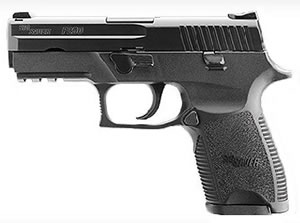 Sig Sauer P250 Pistol 250F40BSS, 40 S&W, 3.86 in BBL, Dbl Actn Only, Polymer Grips, Siglite Night Sights, Blk Nitron Finish, 14 + 1 Rds