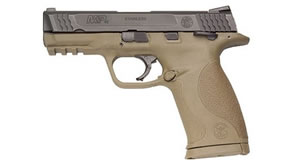 Smith & Wesson Model M&P 45C Pistol 109158, 45 ACP, 4 in BBL, Dbl Actn Only, Polymer Grips, 3-Dot Sights, Blk Slide/Dk Earth Frame, 8 + 1 Rds