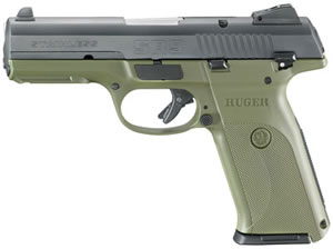 Ruger SR9 Model SR9B-10L Pistol 3311, 9 MM, 4.14 in BBL, Dbl Actn Only, Blk Polymer Grips, Cocob Grips Blue Finish, 10 + 1 Rds