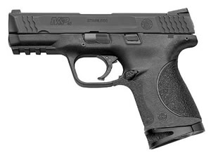 Smith & Wesson Model M&P 45C Pistol 109308, 45 ACP, 4 in BBL, Dbl Actn Only, Polymer Grips, 3-Dot Sights, Blk Finish, 8 + 1 Rds