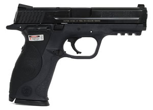Smith & Wesson Model M&P 40 Pistol 220071, 40 S&W, 4 1/4 in BBL, Dbl Actn Only, Crim Trc Lsr Grips, 3-Dot Sights, Blk Finish, 15 + 1 Rds