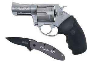Charter Arms Patriot Revolver 73270, 327 Federal Magnum, 2.2 in BBL, Sngl / Dbl, Rubber Grips, Fixed Sights, Stainless Finish, 6 Rds