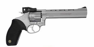 Taurus Model 990 Rimfire Revolver 2990069, 22 Long Rifle, 6 1/2 in BBL, Sngl / Dbl, Ribber Grip Overlay, Adj Sights, Stainless Finish, 9 Rds