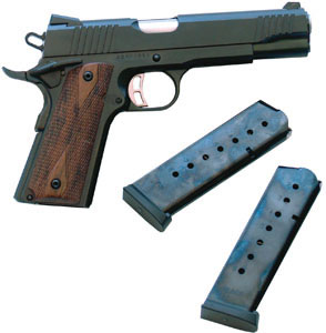 Citadel Model 1911 Pistol CIT45FSP, 45 ACP, 5 in BBL, Sngl Actn Only, Wood Grips, Novak Sights, Blue Finish, 8 + 1 Rds