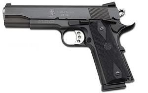 Smith & Wesson Model 1911 Pistol 108309, 45 ACP, 5 in BBL, Sngl / Dbl, Syn Grips, Blk Melonite Finish, 8 + 1 Rds