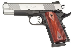 Smith & Wesson Model M1911ES Pistol 108310, 45 ACP, 4 1/4 in BBL, Sngl Actn Only, Wood Grips, Two Tone Finish, 7 + 1 Rds