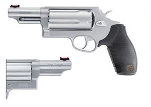 Taurus Model 45/410 The Judge Ultra Light Revolver 2441039ULCT, 410 GA / 45 Long Colt, 3 in BBL, Sngl / Dbl, Crim Trc Lsr Grips, Fixed Sights, Mt Stainless Finish, 5 Rds