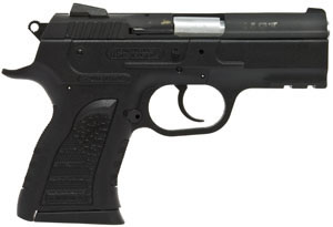 EAA Polymer Pistol 999063, 10 MM, 3.55 in BBL, Sngl / Dbl, Polymer Grips, Windage Adj Sights, Blue Finish, 12 + 1 Rds