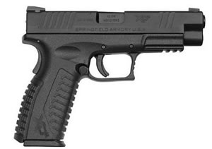 Springfield Model XD Pistol XDM9301HCSP, 9 MM, 4.5 in BBL, Dbl Actn Only, Blk Syn Grips, Tritium Night Sights, Blk Finish, 19 + 1 Rds