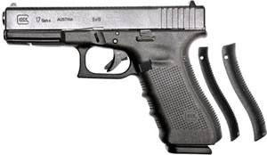 Glock Model 17 Gen 4 Pistol PG1750203, 9mm, 4.49 in, Black Polymer Grip, Black Finish, 17 + 1 Rd, Fixed Sights