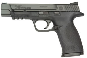 Smith and Wesson M&P 40 Pro 178032, 40 S&W, 5 in, Interchangeable Palmswell Grip, Black Melonite Finish, 15 + 1 Rd, Night Sights