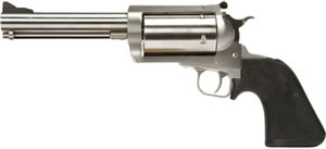 Magnum Research BFR Revolver BFR454105, 410/45 Long Colt, 5.25 in, Black Rubber Grip, Brushed Stainless Finish, 5 Rd