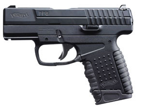 Walther PPS USA Pistol WAP10002, 40 S&W, 3.2 in BBL, Dbl Actn Only, Blk Syn Grips, Adj Sights, Blk Finish, 6 + 1 Rds