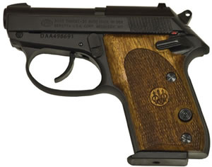 Beretta Model 3032 Tomcat Semi Auto Pistol JS32003, 32 ACP, 2.4 in, Chechen Grip, Finish, 7 + 1 Rd