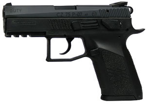 CZ Model P07 Duty Pistol 91187, 40 S&W, 3.74 in, Polymer Grip, Black Polycoat Finish, 12 + 1 Rd