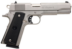Para ORdnance Model 1911 GI Expert Pistol GI45S, 45 ACP, 5 in, Checkered Black Grip, Stainless Finish, 8 + 1