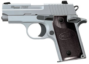Sig Sauer Model P238 Pistol 238380HD, 380 ACP, 2.7 in, G10 Composite Grip, Stainless Finish, 6 + 1 Rd, Night Sights