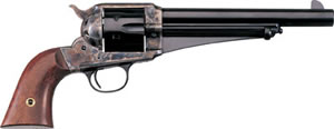 Taylors 1875 Army Outlaw Revolver 0151, 45 Colt, 7.5 in, Walnut Grip, Case Hard Blue Finish, 6 Rds