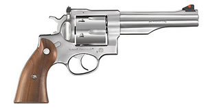 Ruger Redhawk Model KRH445 Revolver 5004, 44 Remington Mag, 5 1/2 in BBL, Sngl / Dbl, Rosewood Grips, Adj Sights, Satin Stainless Finish, 6 Rds
