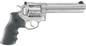 Ruger Model GP100 KGP-161 Revolver 1707, 357 Remington Mag, 6  in BBL, Sngl / Dbl, Rubber, Adj Sights, Satin Stainless Finish, 6 Rds