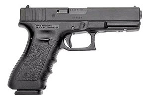 Glock Model 17 Standard Pistol PI1750203, 9 MM, 4.49 in BBL, Dbl Actn Only, Polymer Grips, Fixed Sights, Blk Finish, 17 + 1 Rds