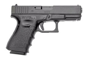 Glock Model 23 Compact Pistol w/ Compensator PI2359203, 40 S&W, 4.02 in BBL, Dbl Actn Only, Polymer Grips, Fixed Sights, Blk Finish, 13 + 1 Rds