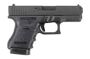 Glock Model 36 Subcompact Slimline Pistol PI36507, 45 ACP, 3.78 in BBL, Dbl Actn Only, Polymer Grips, Night Sights, Blk Finish, 6 + 1 Rds
