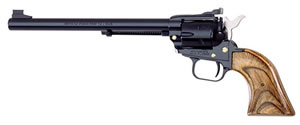 Heritage Rough Rider Rimfire Revolver RR22MB9AS, 22 LR / 22 WMR, 9 in BBL, Sngl Actn Only, Wood Grips, Blue Finish, 6 Rds