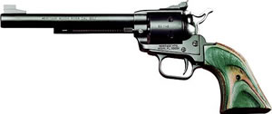 Heritage Rough Rider Rimfire Revolver RR22MBS6, 22 LR / 22 WMR, 6 1/2 in BBL, Sngl Actn Only, Wood Grips, Fixed Fnt, Notch Rear Sights, Blk Satin Finish, 6 Rds