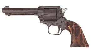 Heritage Rough Rider Rimfire Revolver SRR22MB4, 22 LR / 22 WMR, 4 3/4 in BBL, Sngl Actn Only, Wood Grips, Fixed Fnt, Notch Rear Sights, Blue Finish, 6 Rds