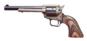 Heritage Rough Rider Rimfire Revolver RR22MCH6, 22 LR / 22 WMR, 6 1/2 in BBL, Sngl Actn Only, Wood Grips, Fixed Fnt, Notch Rear Sights, Case Hd Blue Finish, 6 Rds
