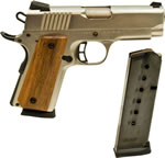 Citadel Model 1911 Semi Auto Pistol CIT45CSPBN, 45 ACP, 3.5 in, Chkd Wood Grip, Nickel Finish, 6 + 1 Rd