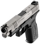 Springfield Model XD M Factor Semi Auto Pistol XDM9454SHC, 45 ACP, 4.5 in, Polymer Grip, BiTone Finish, 13 + 1 Rd