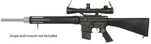 Armalite Model M15A4TBN Rifle, 223 Remington, Semi-Auto, 24 in, Black Syn Stock, Blue Finish, 30 + 1 Rd