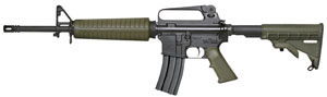 Armalite Model M15A2C Tactical Rifle, 223 Remington, Semi-Auto, 16 in, Green Syn Stock, Black Finish, 30 + 1 Rd