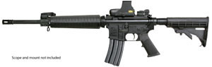 Armalite Model M15A4CB Rifle, 223 Remington, Semi-Auto, 16 in, Black Syn Stock, Black Finish, 30 + 1 Rd