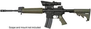 Armalite Model M15A4C Rifle, 223 Remington, Semi-Auto, 16 in, Green Syn Stock, Black Finish, 30 + 1 Rd